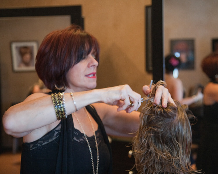 Team Members - Sherri Farrell - Owner - Making Hair Cut